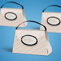 Бонбоньерки для гостей на свадьбе в виде сумочки с ручкой