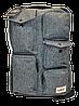 Мужской льняной рюкзак серого цвета TBQ-969976