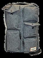 Мужской льняной рюкзак серого цвета TBQ-969976, фото 1