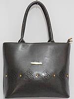 Женская сумка кож.зам масло цвет серый, фото 1
