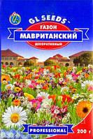 """Газон Мавританский газон ТМ """"GL SEEDS"""", 200 г — газонная смесь из цветущих трав и полевых цветов"""