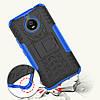 Чехол накладка для Motorola Moto E4 Plus XT1770 противоударный с подставкой, синий, фото 2