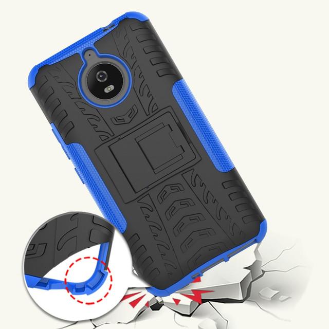 чехол накладка на Motorola Moto E4 Plus XT1770 противоударный синий