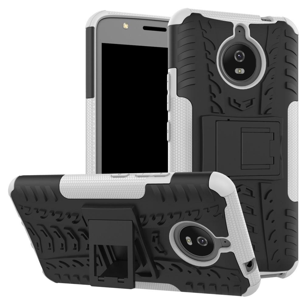 Чехол накладка для Motorola Moto E4 Plus XT1770 противоударный с подставкой, белый