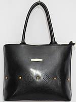 Женская сумка кож.зам масло цвет черный, фото 1