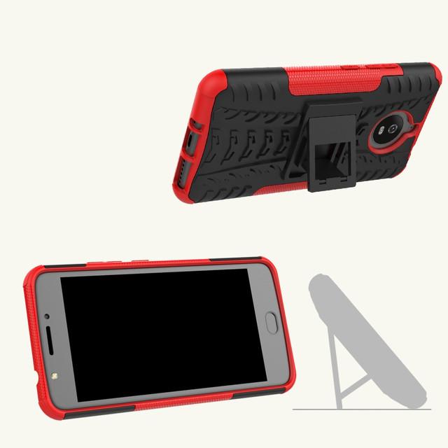 чехол накладка на Motorola Moto E4 Plus XT1770 противоударный красный
