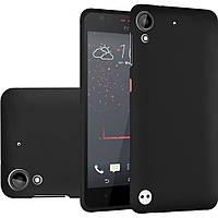 Матовый силиконовый чехол HTC Desire 530/630 Black