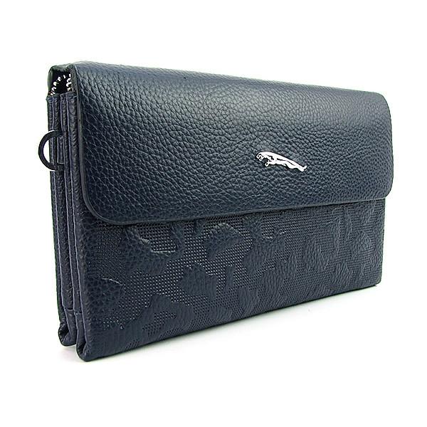 Клатч кожзам мужской clutch синий Jaguar 1207-3