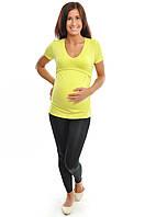 Футболка для будущих и кормящих мам, лимонный