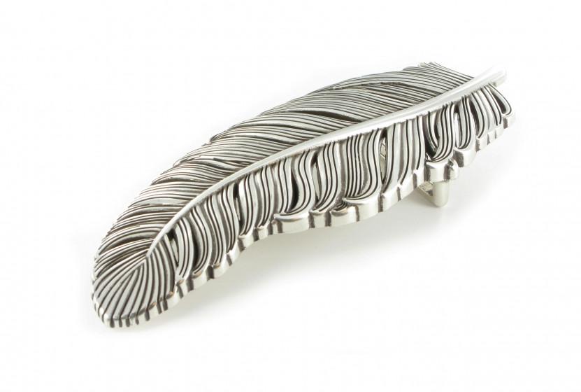 Пряжка для ремня накладная Feather 40 мм