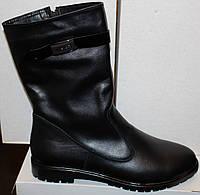 Женские сапожки кожаные, женские сапоги на низком ходу от производителя модель В1585