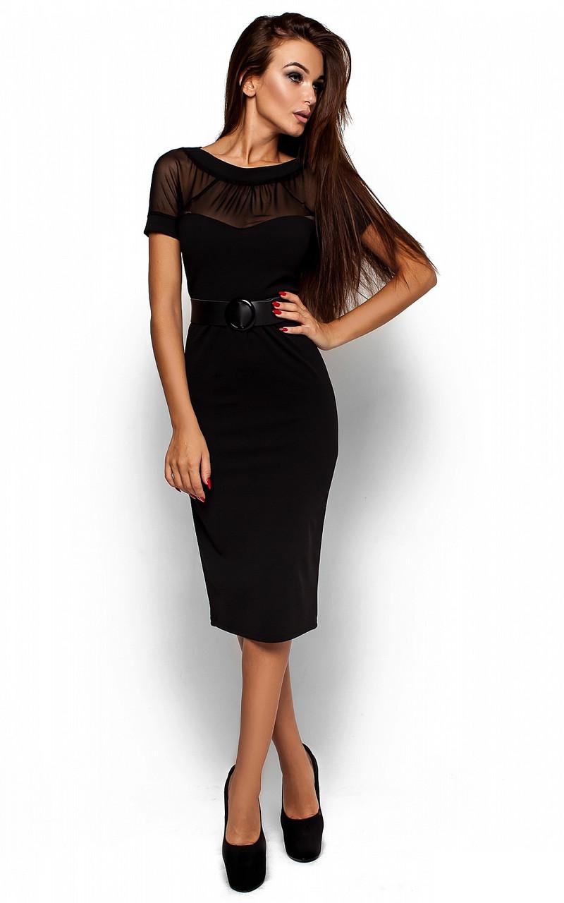 Жіноче ділове чорне плаття Diana