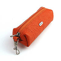 Чехол для ключей ключница на змейке оранжевая Desisan 207 Турция