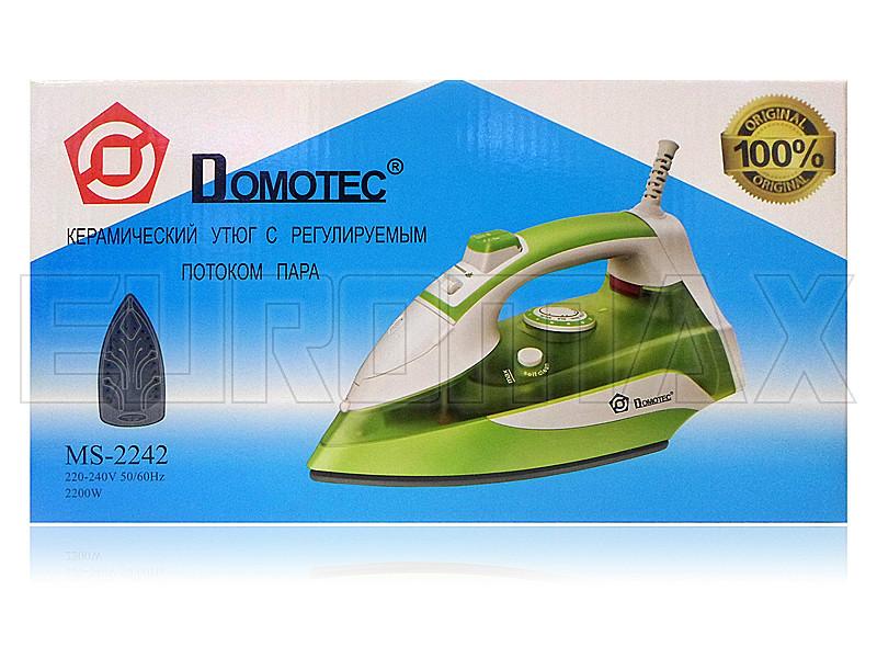 Утюг с керамической подошвой 2200Вт Domotec 2242