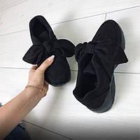 Кроссовки черные замшевые женские