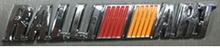 Надпись RALLI ART  167х20 мм  и 155х27 мм