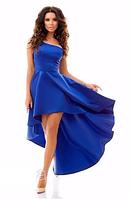 Платье коктейльное женское ассиметрия Eva , платье на одно плечо. Разные цвета, размеры.