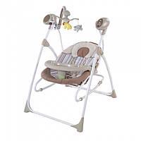 Колыбель-качели, кресло-качалка с пультом (бежевый)