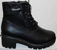 Женские ботинки на каблуке кожаные, ботинки женские от производителя модель В1686