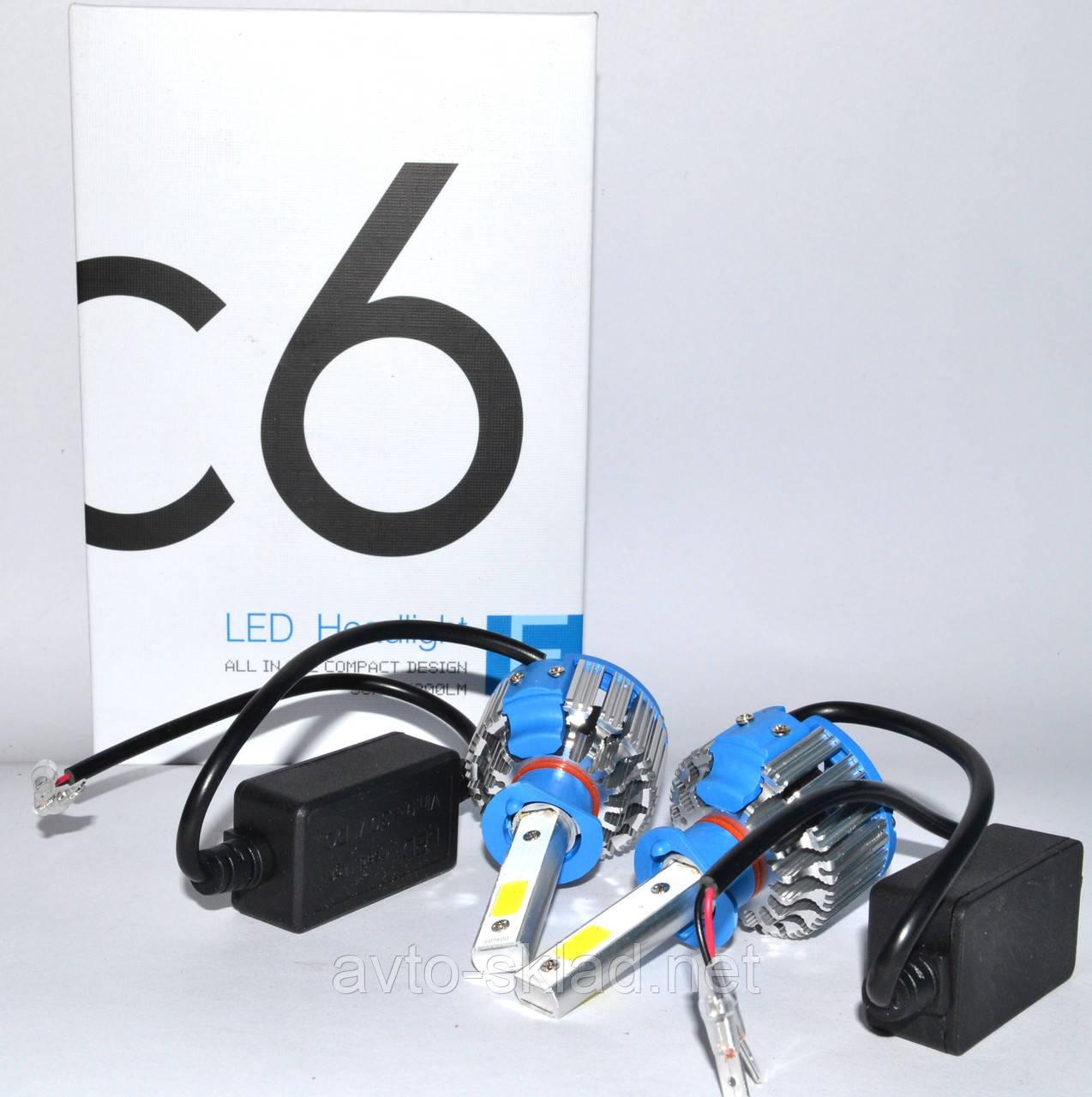 Світлодіодні лампи Led Super C6 H1 12V 6000K (2шт)
