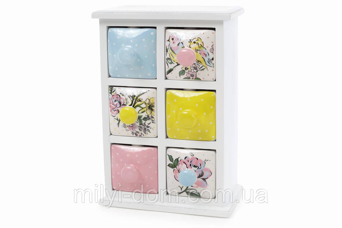 """Мини-шкаф для хранения специй керамический """"Птички"""""""