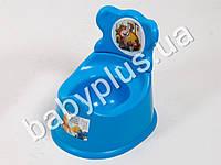 Горшок детский со спинкой, цвет голубой