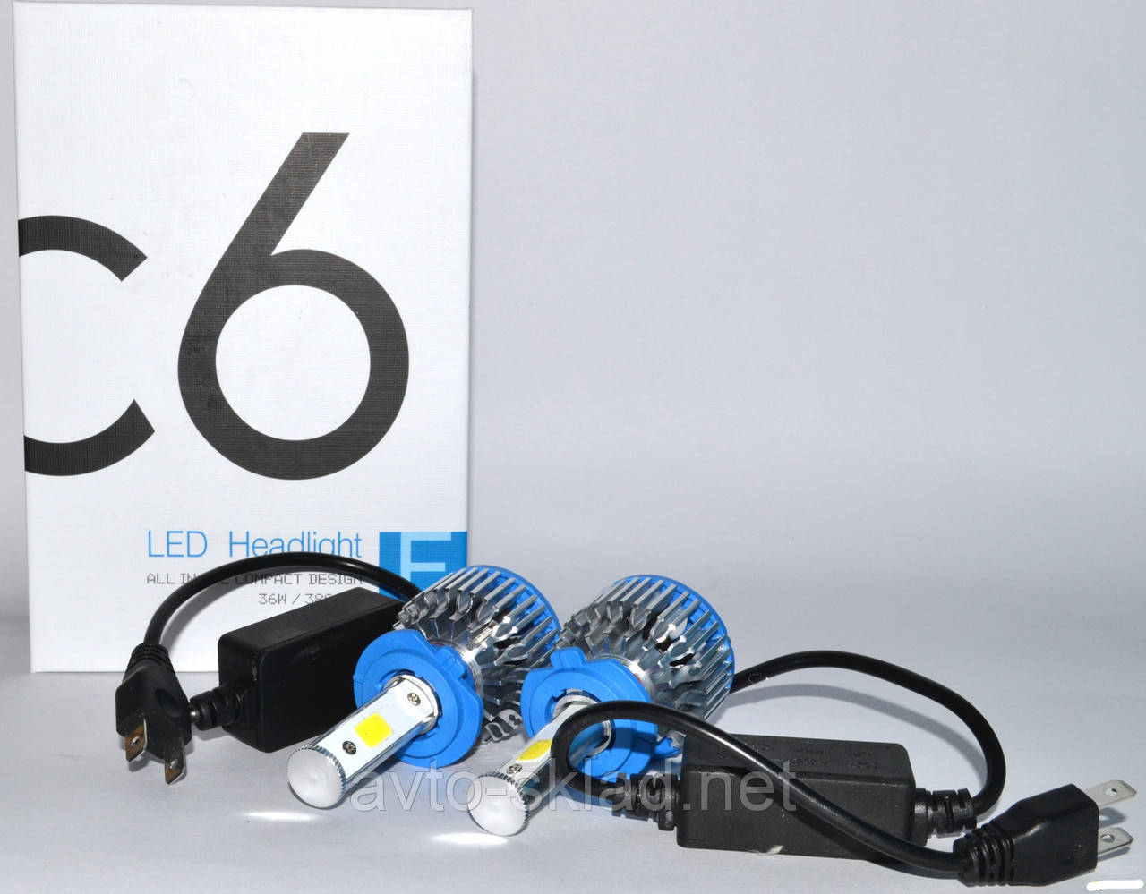 Светодиодные лампы Super Led C6 12V H7 6000K (2шт)