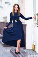 Платье классическое женское, ассиметрия, платье Emilia , платье с длинными рукавами. Разные цвета, размеры., фото 1