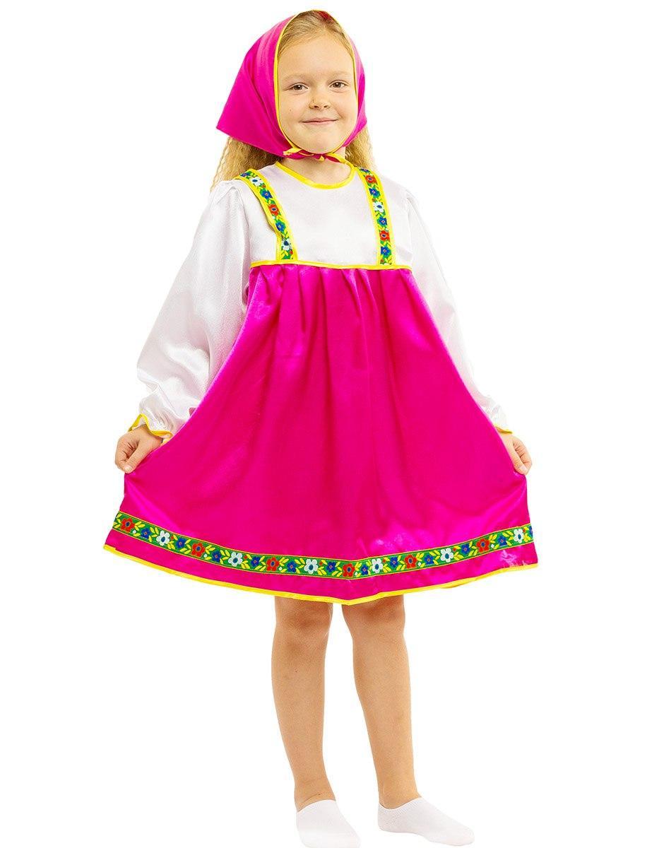 """Детский карнавальный костюм """"Машенька-Матрёшка"""" для девочки"""