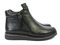 Ботинки на танкетке черного цвета, фото 1