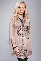 Нарядное платье-туника с перфорацией Angelina
