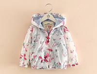 Детская куртка ветровка для девочки Лисички 90, 100, 110