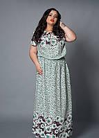 Очаровательное длинное женское платье в ромашки