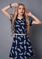 Молодежное женское шифоновое платье 50-52