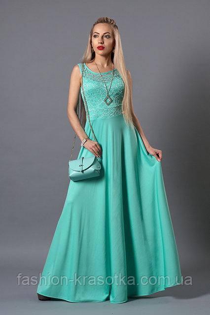 e45c778a298 Шикарное женское платье в пол яркого бирюзового цвета
