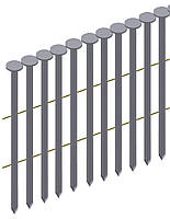 Гвоздь рифленый никелированый в ленте Prebena типа PR 28/75 (4 тис. шт.)