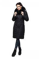 """Черная удлиненная куртка из качественной плотной ткани """"Лана"""""""