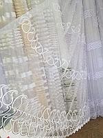 Тюль из фатина с вышивкой, код-258, фото 1