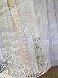 Тюль из фатина с вышивкой, код-258