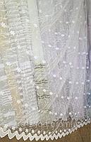 Тюль из фатина с вышивкой, код-262, фото 1