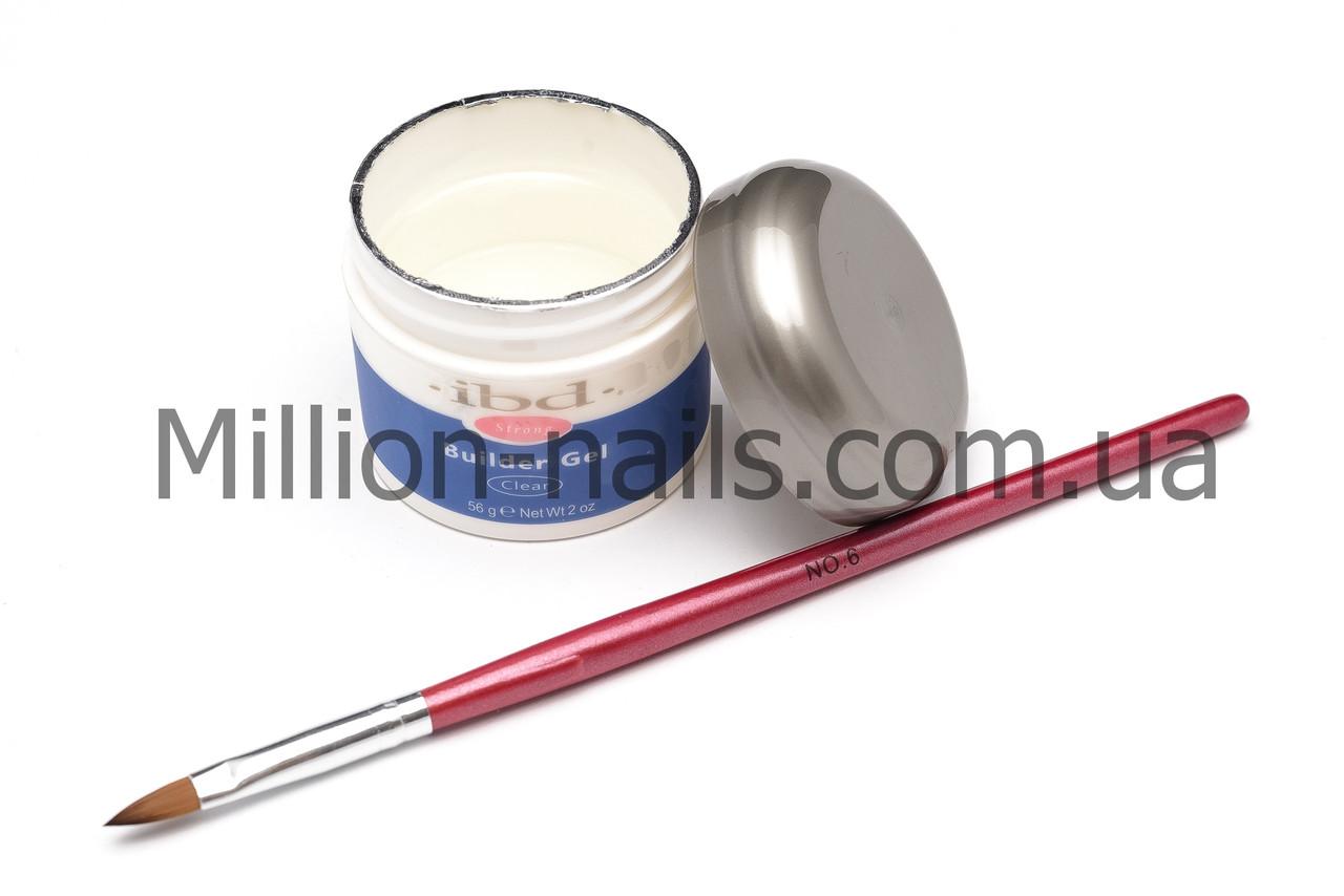 Гель для наращивания ногтей, IBD прозрачный , 56 гр.