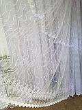 Тюль из фатина с вышивкой, код-698