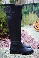 Женские сапоги европейка натуральная кожа натур мех, фото 1