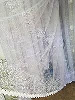 Тюль из фатина с вышивкой, код-688, фото 1