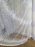 Тюль из фатина с вышивкой, код-1612, фото 1