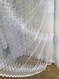 Тюль из фатина с вышивкой, код-1612