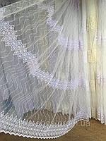 Тюль из фатина с вышивкой, код-82880, фото 1