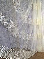 Тюль из фатина с вышивкой, код-8346, фото 1