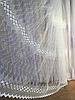 Тюль из фатина с вышивкой, код-1601