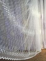 Тюль из фатина с вышивкой, код-1601, фото 1